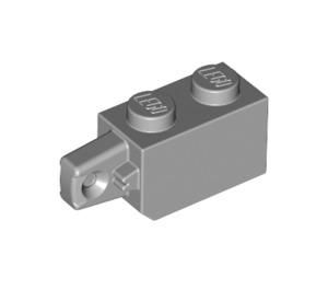LEGO Medium Stone Gray Hinge Brick 1 x 2 Locking with Single Finger (Vertical) On End (30364)