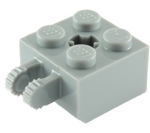 LEGO Medium Stone Gray Hinge Brick 2 x 2 Locking with Axlehole and Dual Finger (40902)