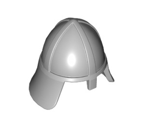 LEGO Medium Stone Gray Knights Helmet with Neck Protector (3844)