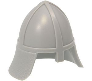 LEGO Medium Stone Gray Knights Helmet with Neck Protector (3844)