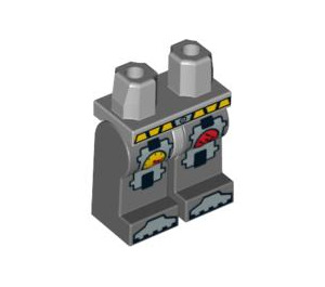 LEGO Medium Stone Gray Minifigure Hips with Dark Stone Gray Legs with Decoration (94303 / 95510)