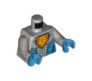 LEGO Nexo Knights Royal Soldier Torso with Yellow Lion and Crown with Flat Silver Arms and Dark Azure Hands (973 / 76382)