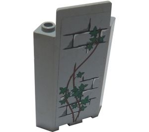 LEGO Medium Stone Gray Panel Wall 3 x 3 x 6 Corner with Bricks, Ivy Trunks and 15 Leaves Sticker without Bottom Indentations