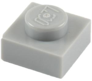 LEGO Medium Stone Gray Plate 1 x 1 (3024)