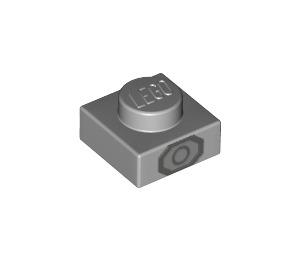 LEGO Medium Stone Gray Plate 1 x 1 with Decoration (42803)