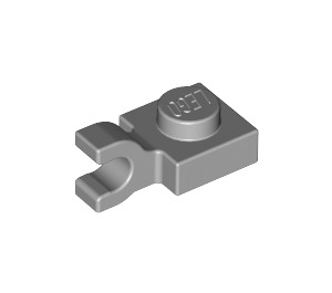 LEGO Medium Stone Gray Plate 1 x 1 with Horizontal Clip (Flat Fronted Clip) (6019)