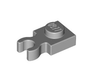 LEGO Medium Stone Gray Plate 1 x 1 with Vertical Clip (Thin 'U' Clip) (4085 / 60897)