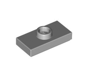 LEGO Medium Stone Gray Plate 1 x 2 with 1 Stud (with Groove and Bottom Stud Holder) (15573)