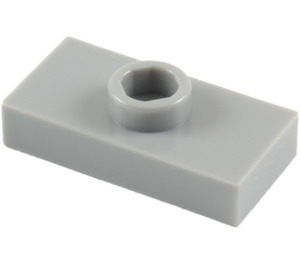 LEGO Medium Stone Gray Plate 1 x 2 with 1 Stud (without Bottom Groove) (3794)