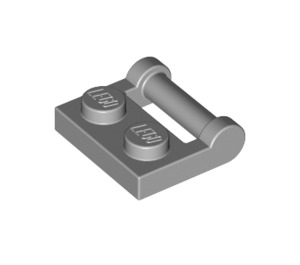 LEGO Medium Stone Gray Plate 1 x 2 with Handle (Closed Ends) (48336)