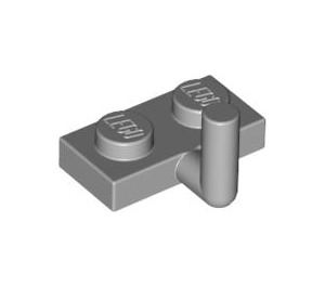 LEGO Medium Stone Gray Plate 1 x 2 with Hook (5mm Horizontal Arm) (43876 / 88072)