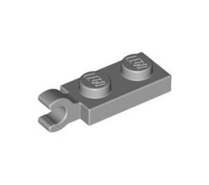 LEGO Medium Stone Gray Plate 1 x 2 with Horizontal Clip on End (42923 / 63868)