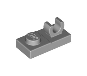 LEGO Medium Stone Gray Plate 1 x 2 with Top Clip without Gap (44861)