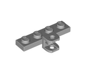 LEGO Medium Stone Gray Plate 1 x 4 with Towball Socket with Plates (49422 / 98263)