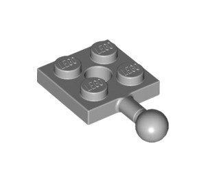 LEGO Medium Stone Gray Plate 2 x 2 with Towball and Hole in Plate (15456 / 67324)
