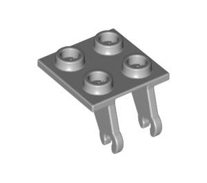 LEGO Medium Stone Gray Plate 2 x 2 with Wheel Holder (2415 / 66199)