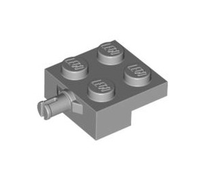 LEGO Medium Stone Gray Plate 2 x 2 with Wheel Holder (4488 / 10313)