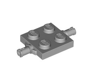 LEGO Medium Stone Gray Plate 2 x 2 with Wheels Holder Double (4600 / 67687)