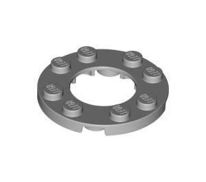 LEGO Medium Stone Gray Plate 4 x 4 Round with Cutout (11833 / 28620)