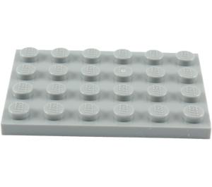 LEGO Medium Stone Gray Plate 4 x 6 (3032)