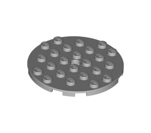 LEGO Medium Stone Gray Plate 6 x 6 Round with Pin Hole (11213)