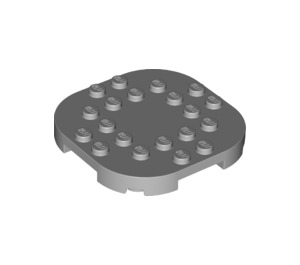 LEGO Medium Stone Gray Plate 6 x 6 x 2/3 Circle with Reduced Knobs (66789)
