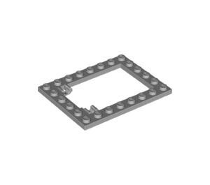 LEGO Medium Stone Gray Plate 6 x 8 Trap Door Frame Flush Pin Holders (92107)