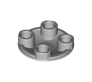LEGO Medium Stone Gray Round Plate 2 x 2 with Rounded Bottom (2654)