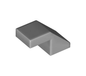 LEGO Medium Stone Gray Slope 1 x 2° 45 (28192)
