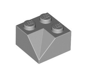 LEGO Medium Stone Gray Slope 2 x 2 (45°) with Double Concave (Rough Surface) (3046)
