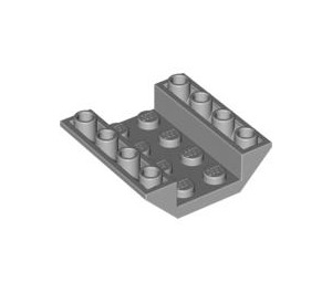 LEGO Medium Stone Gray Slope 4 x 4 (45°) Double Inverted with Open Center (No Holes) (4854)