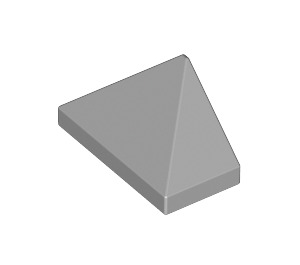 LEGO Medium Stone Gray Slope 45° 1 x 2 Triple with Inside Bar (3048)
