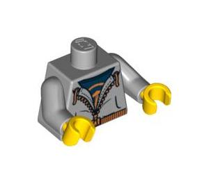 LEGO Medium Stone Gray Street Skater Torso (88585)