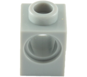 LEGO Medium Stone Gray Technic Brick 1 x 1 with Hole (6541)