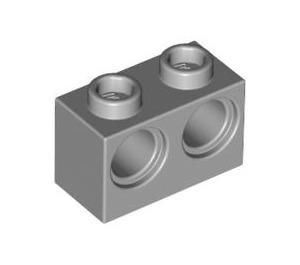 LEGO Medium Stone Gray Technic Brick 1 x 2 with 2 Holes (32000)