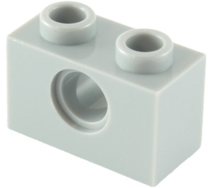 LEGO Medium Stone Gray Technic Brick 1 x 2 with Hole (3700)