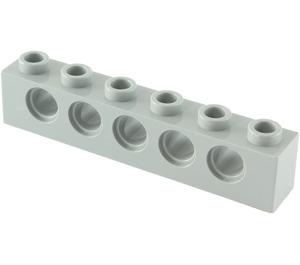LEGO Medium Stone Gray Technic Brick 1 x 6 with Holes (3894)