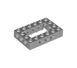 LEGO Medium Stone Gray Technic Brick 4 x 6 with Open Center 2 x 4 (32531)
