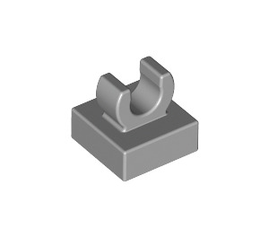 "LEGO Medium Stone Gray Tile 1 x 1 with Clip (Raised ""C"") (15712 / 44842)"