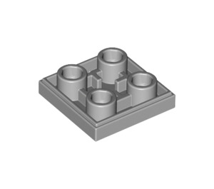 LEGO Medium Stone Gray Tile 2 x 2 Inverted (11203)
