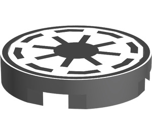 LEGO Tile 2 x 2 Round with Galactic Republic (42132)