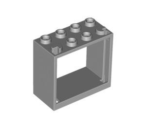 LEGO Medium Stone Gray Window 2 x 4 x 3 with Square Holes (60598)