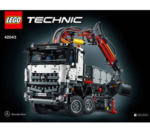 LEGO Mercedes-Benz Arocs 3245 Set 42043 Instructions