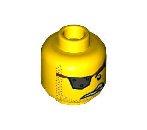 LEGO MetalBeard Plain Head (Recessed Solid Stud) (3626 / 44188)