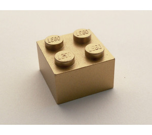 LEGO Metallic Gold Brick 2 x 2 (15591 / 62404)