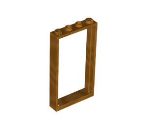 LEGO Metallic Gold Door Frame 1 x 4 x 6 Single Sided (66190)