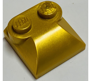 LEGO Metallic Gold Slope 2 x 2 Curved with Curved End