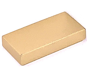LEGO Metallic Gold Tile 1 x 2 with Groove (15598 / 54285)