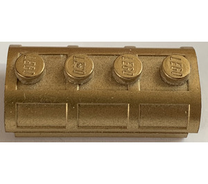 LEGO Metallic Gold Treasure Chest Lid 2 x 4 with Thick Hinge (62623)