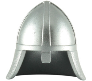 LEGO Metallic Silver Knights Helmet with Neck Protector (15606 / 59600)
